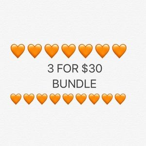 3 for $30